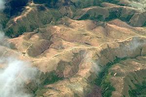 Erosão na Serra da Saudade, MG