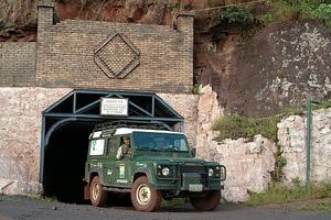 O Talha-mato visita a mina de manganês da Urucum Mineracão, Corumbá