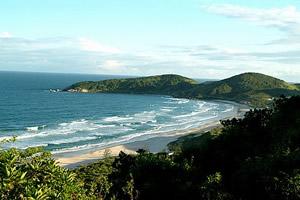 A badalada Praia do Rosa, SC