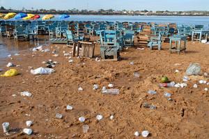 A Praia do Tucunaré, em frente a Marabá, na manhã de segunda-feira. Foto: Margi Moss