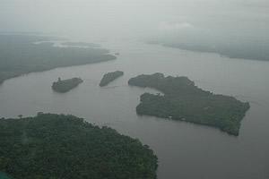 Rio Uaupes, na chuva