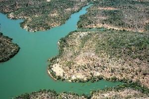Águas verdes na represa Boa Esperança, no Rio Parnaíba - Foto: Margi Moss
